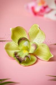 Pin-Up Orchid Hair Clip Années 50 en Vert