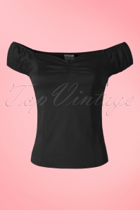 50s Winnie Top in Black