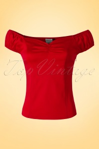 50s Winnie Top in Red