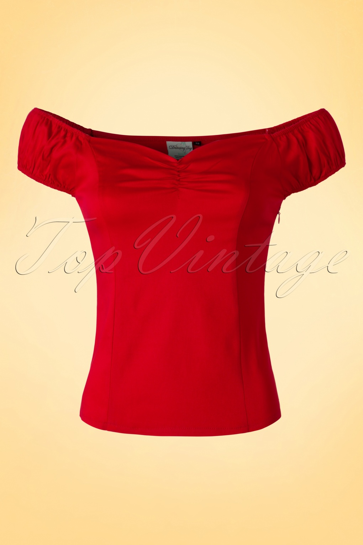 50s Winnie Top in Red be64233bd
