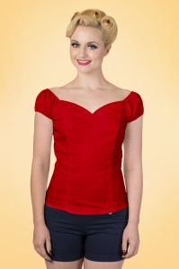 Dancing Days by Banned Short Sleeve Top in Red 110 20 18728 20160527 0015