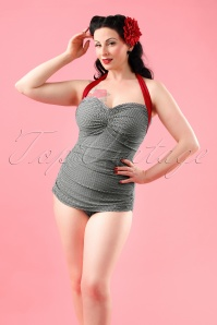 Classic Fifties One Piece Swimsuit Frock Patsy