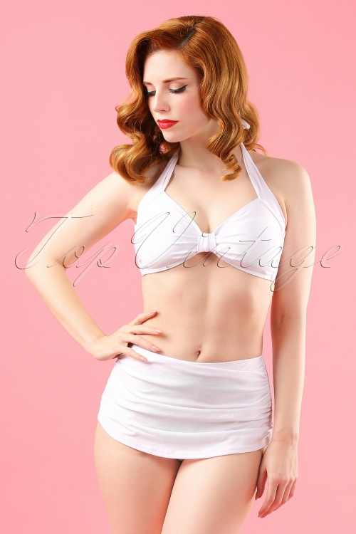 Esther Williams Classic Bikini Top and bottom White 160 50 17569 model01W