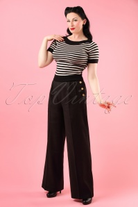 Bunny Honeybear Black Trousers 131 10 18290 model01W