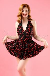 Esther Williams Swimwear Black Cherry Swimdress Bathing Suit  162 14 14956 20150408 0016W