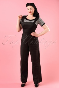 Bunny Penny Dungar Jumpsuit Black 139 10 18263 model01W