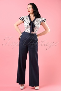 Bunny Riviera Trouser Navy 131 31 18291 model01W