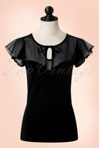 50s Alyssa Lace Top in Black