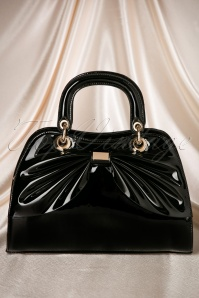 50s Scarlett Bow Handbag in Black
