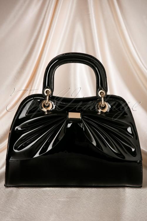 La Parisienne Black Bow Lacquer Bag 212 10 19323 06062016 009W