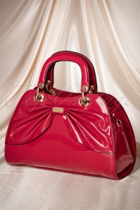 La Parisienne Red Bow Lacquer Bag 212 20 19322 06062016 011W