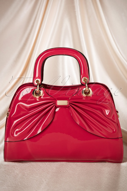 La Parisienne Red Bow Lacquer Bag 212 20 19322 06062016 003W