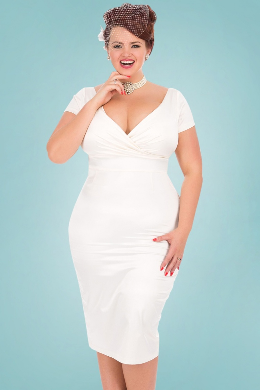 50s ursula satin wedding pencil dress in ivory for Pencil dress for wedding