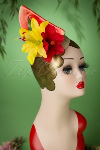 Lady Luck's Boutique TopVintage Exclusive Carmen Watermelon Fascinator 208 20 18658 20160607 0053W