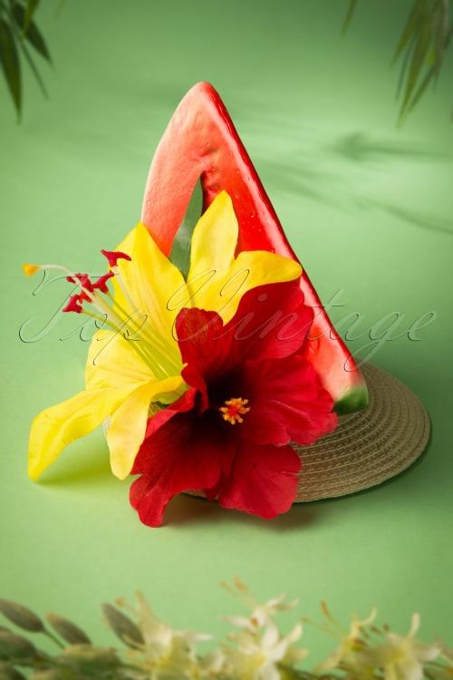 Lady Luck's Boutique TopVintage Exclusive Carmen Watermelon Fascinator 208 20 18658 20160607 0020W
