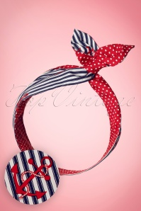 50s I Want Anchors and Polkadots In My Hair Scarf