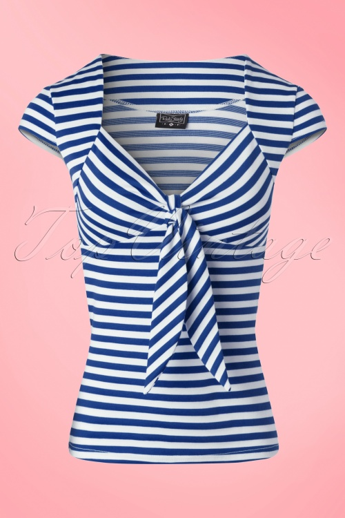 Steady Clothing Striped Sweetheart Shirt Blue White 111 39 18352 20160503 0006W