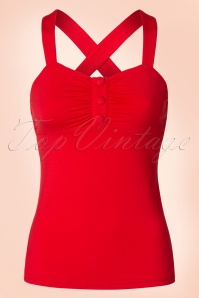 50s Shirley Top in Red