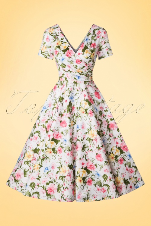Collectif Cloting Maria Artistic Floral Swing Dress 17721 20151119 0005W