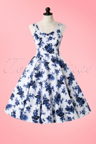 Hearts and Roses White Blue Floral Dress 102 59 17141 20160415 0003W