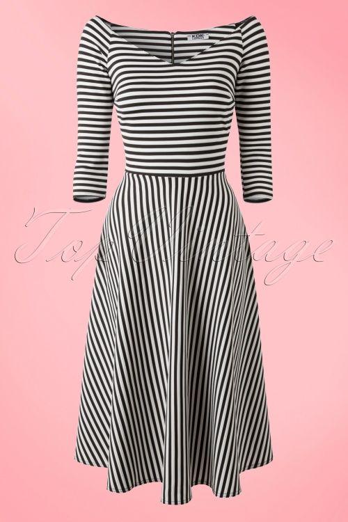 Vintage Chic New Striped Dress Onbekend  20151215 0004WA