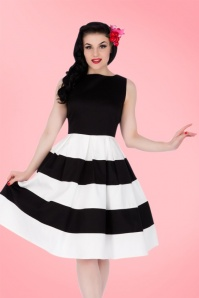 Dolly and Dotty Anna White Striped Swing Dress 102 50 17004 20150922 1