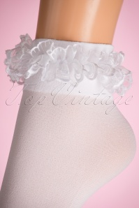 Lovely Legs Lace Ruffles White Socks 179 50 11599 20160615 0007W