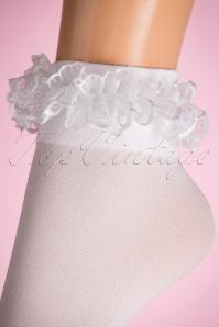 Lovely Legs Lace Ruffles White Socks 179 50 11599 20160615 0007W