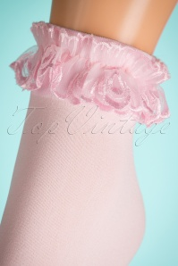 Lovely Legs Lace Ruffle Socks in Pink 179 22 19325 20160615 0005W