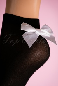 Lovely Legs Opaque Ankle Socks Bow Black and White 179 10 19326 20160615 0009W