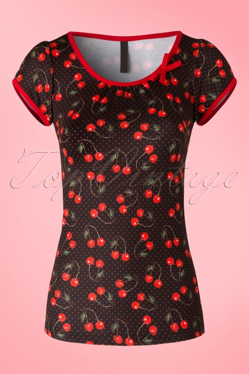 Sassy Sally Cherry Art T Shirt 111 14 16453 20150911 006W