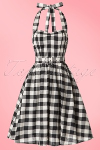 Dolly and Dotty Sophie Two Tone Black And white Checked Halter Dress 102 14 18182 20160616 0007W