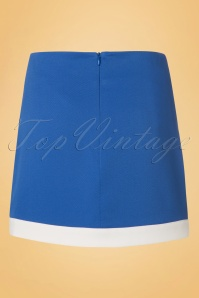 Dandy Life Two Tone 60s Mini Skirt in Blue and White 123 30 18426 20160616 0002W