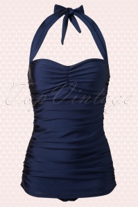 Esther Williams  Classic fifties Bathing Suit Navy Blue 161 31 12101 20140219 0001W