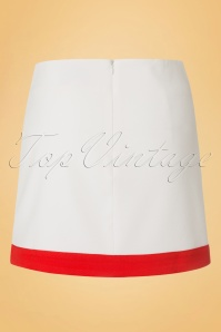 Dandy Life Two Tone 60s White Red Mini Skirt 123 50 18425 20160616 0006W