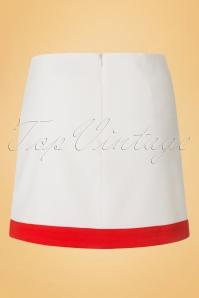Dandy Life Two Tone 60s White Red Mini Skirt 123 50 18425 20160616 0006W