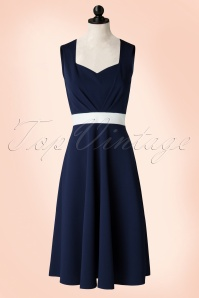 Vintage Chic Luxury Fit Navy Dress 102 31 19258 20160614 0001pop