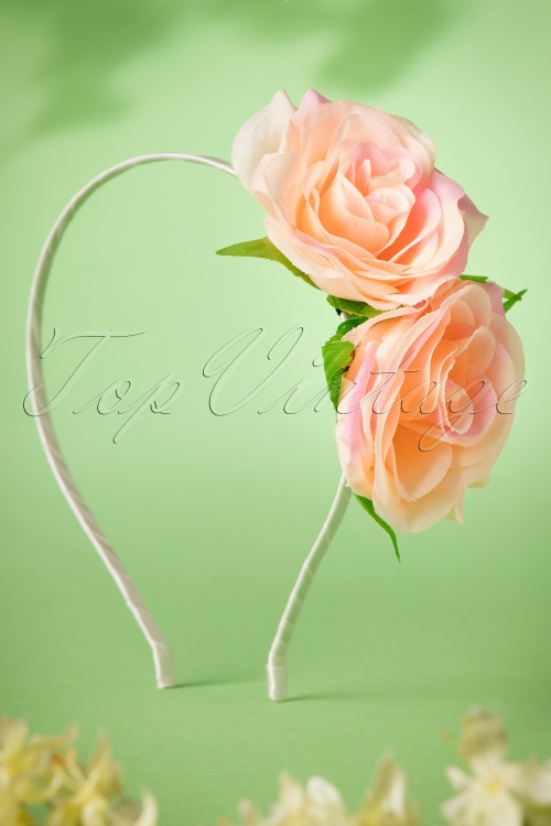 Collectif Clothing Carmen Rose Peach Headband 208 51 18979 20160620 0002W