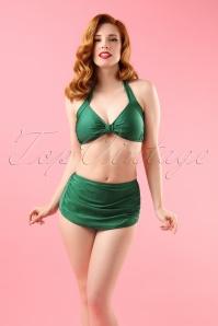 Classic Bikini Années 50 en Vert émeraude