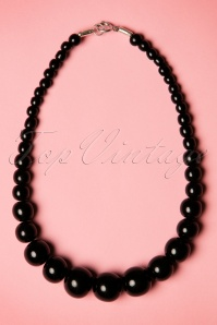 TopVintage Exclusive ~ 50s Gwendolyn Pearl Necklace in Black