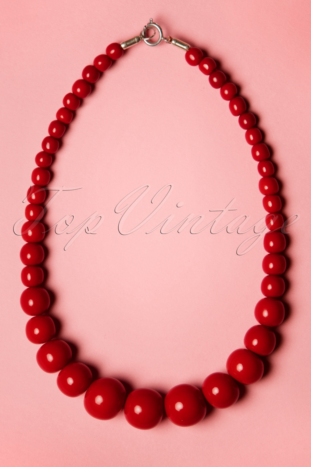 New 1940s Costume Jewelry: Necklaces, Earrings, Pins TopVintage Exclusive  50s Gwendolyn Pearl Necklace in Red £11.37 AT vintagedancer.com