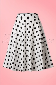 Steady Clothing Retro Polkadot Swing Skirt White Black 122 59 18356 20160623 0010WA