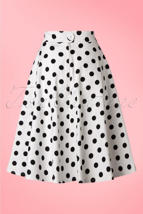 9c2c56106c1b Steady Clothing Retro Polkadot Swing Skirt White Black 122 59 18356  20160623 0008WA