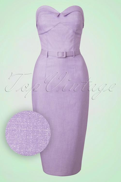 Collectif Cloting Monica Purple Glitter Pencil Dress 17654 20151117 0007W1