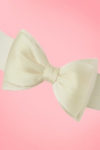 Banned Bow Belt in White 230 50 17871 20160308 0003W