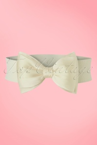 Banned Retro 50s Wow to the Bow Belt in Ivory