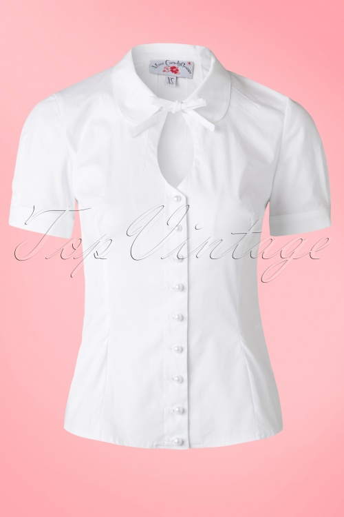 Miss Candyfloss White Bow Top 112 50 14902 20150330 0008Haakje