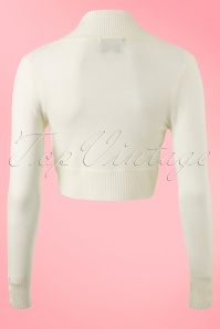 Collectif Clothing  Jean knitted Bolero in Ivory 12531 20140217 0005W