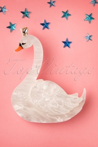 TopVintage Exclusive ~ Swan Princess Brooch Années 50