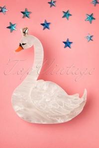 Deer Arrow Swan Princess Plastic Brooche 340 50 19302 20160629 0004W